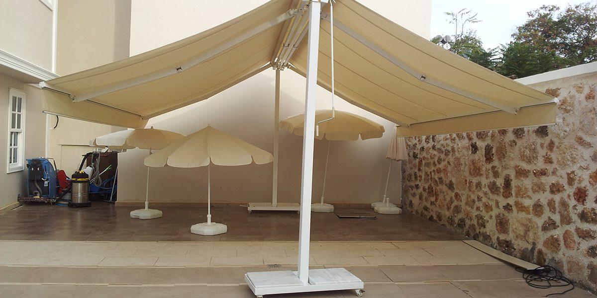 Bayraklı T-Modül Tente